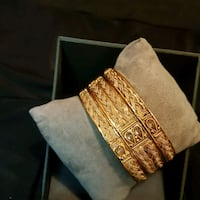 Bangles gold plated colour never change