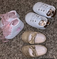 3 shoes size 3-6 months