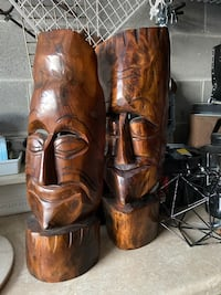 Hand carved wooden heads from haiti Parkside, 19015
