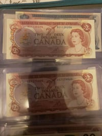 1974 2 dollar bills uncirculated 15 Each  Edmonton
