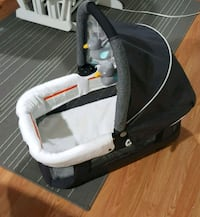 baby's gray and white bassinet Vancouver, V5R 4N9