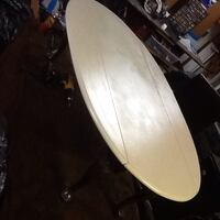 oval wooden dining table