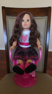 My life doll+three outfits+a stylist chair