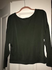 Gentle Fawn top, Army green, with deep V back  Vancouver, V5K