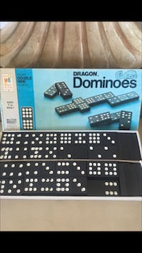 Milton Bradley Company Vintage 1970 / Dragon All Wood Dominoes / Made In USA Beverly Hills