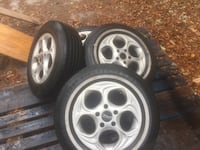 Aluminum set of Rims/ Tires R15 inch