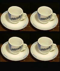 Levtov Set of 4 Espresso Coffee Cups/Saucers. Greek Collection YASOU Queens, 11106