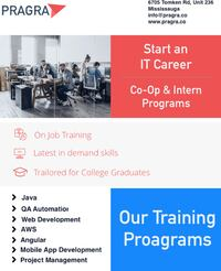 Software Programming CO-OP Training - 3 Months Mississauga