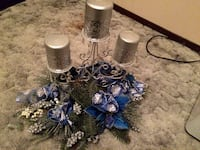 Blue/Silver Centerpiece