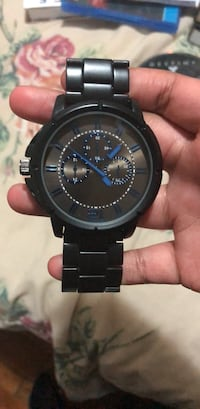 Blue and Black Stainless Steel Watch Washington, 20032