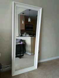 rectangular white wooden framed mirror 27 mi