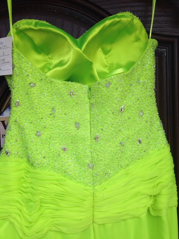 f6d4d70927cc3d Used New Size 2 Lime Green Mermaid Prom Formal gown.  75 for sale in ...