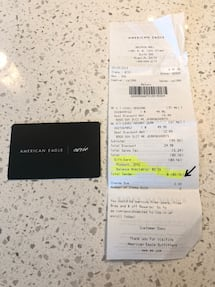 American Eagle Outfitters Gift Card $80.16 -Selling for $69 Price firm