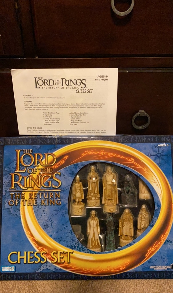 Photo Lord of the rings chess set