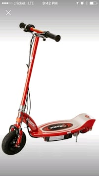 red and gray Razor electric kick scooter screensho