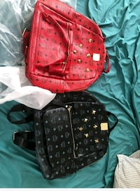 red and white leather backpack Fayetteville, 28303