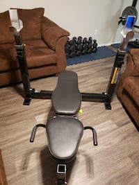 Powertec Workout Weight Bench - No Weights or Barbell Included