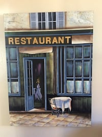 Wall Art - Bon Appetit! Perfect to update your kitchen or dining room. Blues/Greys/Tan/White. 39.5 inches long x 29.5 inches wide. Perfect condition! Oakland, 94610
