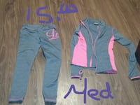gray-and-pink zip-up jacket and pants Cedartown, 30125