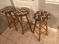(4) Counter height bar stools (3 pictured). Good condition, just not high enough for our counter. From smoke free, pet free home. Measures 28 inches from the floor to top.