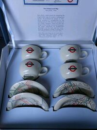 The underground map 1933 Espresso cup set of 4.  Montgomery Village, 20886