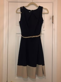 NEVER WORN (still has tags!) Dressbarn navy and cream dress  Madison, 07940