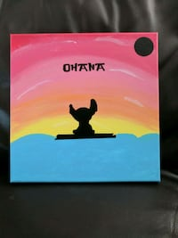 Ohana Lilo and Stitch painting