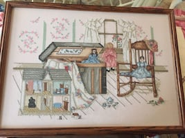 Counted cross stitch doll house