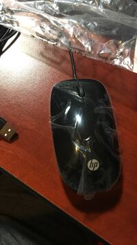 Black hp corded mouse