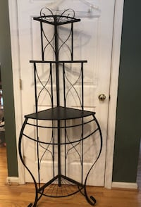 "Metal corner shelf 64"" Tall  Woodbridge"
