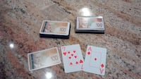 Large print playing cards with Canadian $100 banknote design Mississauga