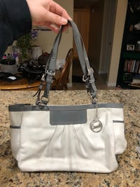 Authentic white and grey coach purse Fair Oaks, 95628