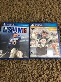 Two ps4 games Tea, 57064