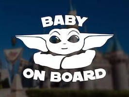 Star Wars Baby Yoda baby on board sticker