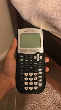 black and white Texas Instruments TI-84 Plus Chantilly, 20151
