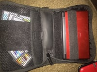 black and red leather bag 2383 mi