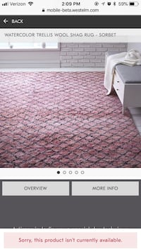 West Elm Pink wool rug Los Angeles, 90232