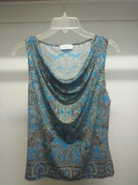 blue and black floral tank top by Calvin Klein  Arlington, 76002