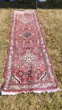 red and black floral area rug Burke, 22015