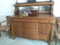 Antique Oak buffet and China cupboard Mount Airy, 21771