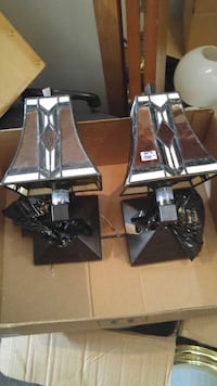 Stained glass sconces $100.00 Lethbridge