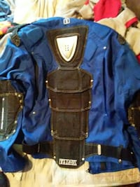 blue and black motocross jacket