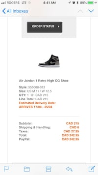 SHADOW 1s SIZE 11
