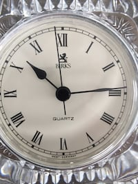BORKS solid crystal clock.  Beautiful for a gift.  In excellent condition.  Pick up in Waterdown  Waterdown, L8B