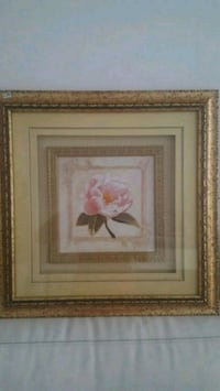 brown wooden framed painting of pink flowers Los Angeles, 90048