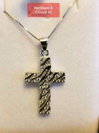 silver-colored cross pendant necklace Vaughan, L4H 0G8