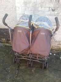 yellow and brown twin stroller Rochdale, OL16 4TD