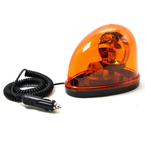 Car Truck 12V Flashing Beacon Amber Magnetic Revol