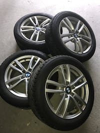 BMW Winter snow tires and Wheel set 215-55-17 573 km