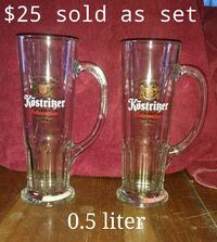 two clear glass beer mugs Redding, 96002